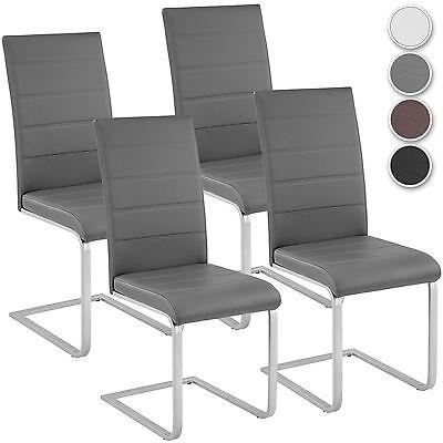 4er Set Esszimmerstuhl Freischwinger Stuhl Set Stühle Polsterstuhl Schwingstuhl (Esszimmer Stuhl, Moderne)
