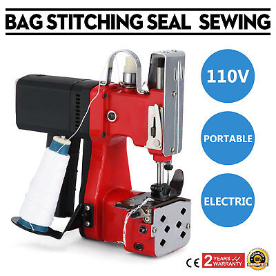 Electric Bag Sewing Machine Sealing Machines Portable 110v Sack Closer Newest