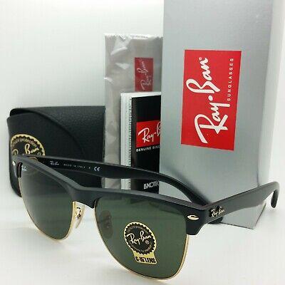 NEW Rayban Clubmaster Oversized sunglasses RB4175 877 57mm Black Green G-15 (Ray Ban Oversized Wayfarers)