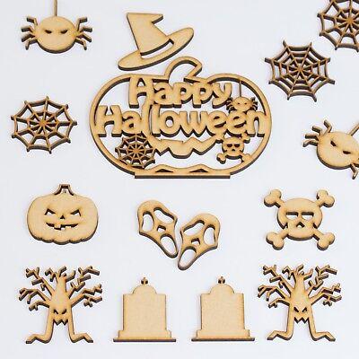 Wooden Halloween Shapes Pumpkin Bats Masks & More Craft Blanks MDF Wood Decor