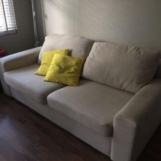 Fabric sofa used