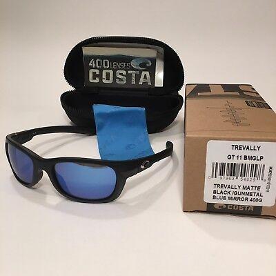 Costa Del Mar Trevally Polarized Black/Blue Mirror Sunglasses - Women MSRP $189
