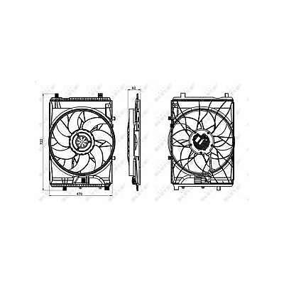 Genuine NRF Engine Cooling Radiator Fan - 47849