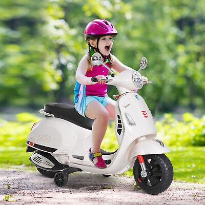 HOMCOM Coche Triciclo Moto Eléctrica Infantil Bocina Carga 25kg