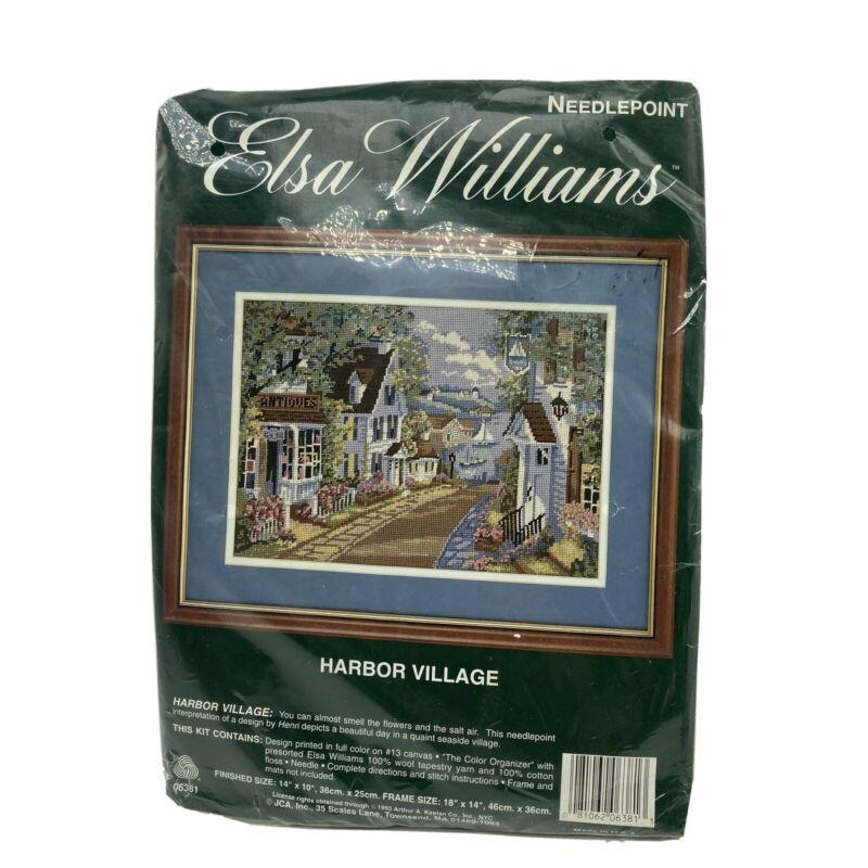 Elsa Williams Needlepoint Kit Harbor Village Vintage 1993 NOS