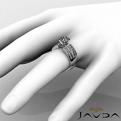 3 Row Channel Set Round Natural Diamond Engagement Ring GIA Certified G SI1 2Ct 4