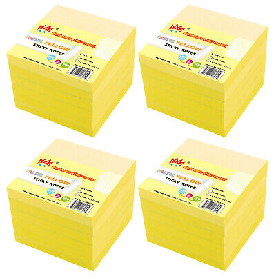 4a Sticky Notes Memo Reminder 3 X 3 Canary Yellow 24 Pads Total 2400 Sheets