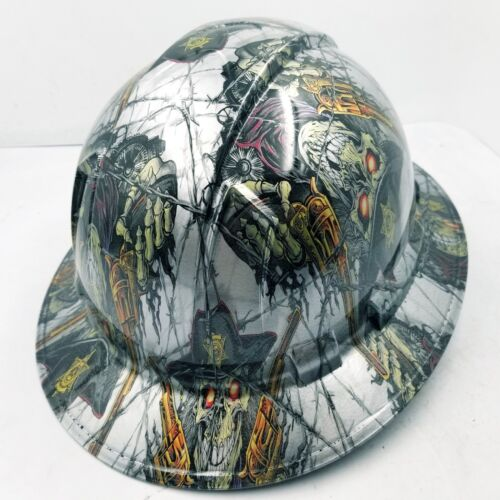 FULL BRIM Hard Hat custom hydro dipped , NEW DIRTY DIRTY HARRY NEW 3