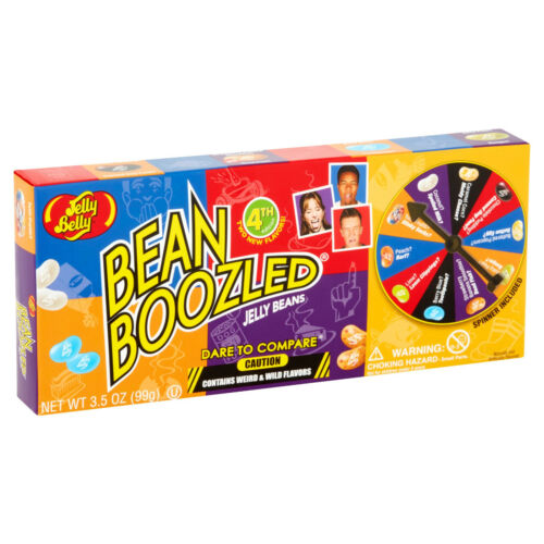 Jelly Belly BEAN BOOZLED 3.5 oz Spinner Gift Box Game - 5TH Edition - FRESH