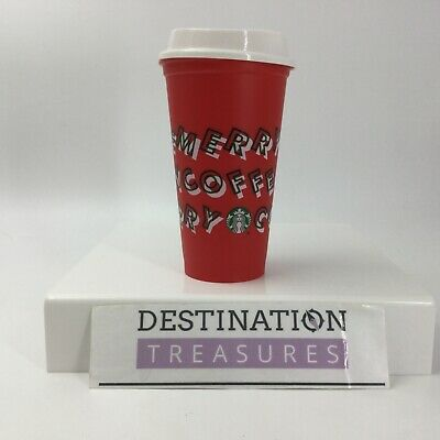 Starbucks Christmas 2019 Reusable Opening Day Gift Merry Coffee Red Cup 16 oz ()