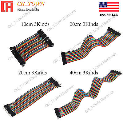 10 20 30 40cm Dupont Wire 40pcs Cables Line Jumper Connector Female Male 1p-pin