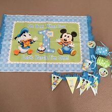 Baby boy 1st birthday party supplies Fletcher Newcastle Area Preview