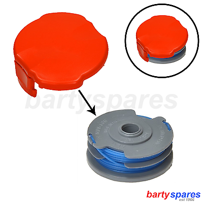Double Autofeed Spool + Line + Spool Cap Cover For Flymo Strimmers + Trimmers - bartyspares - ebay.co.uk