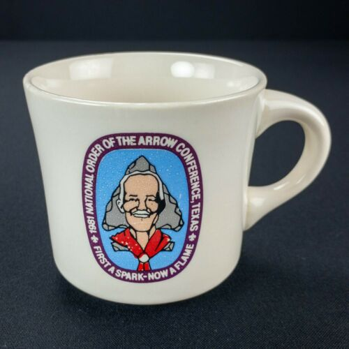 Vintage 1981 Boy Scout Mug National Order Of The Arrow Conference BSA Texas