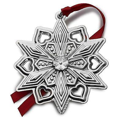 BNIB 2015 GORHAM Estimable Silver Christmas Snowflake Ornament Pendant Medallion