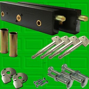 Enfield Genuine Garage Door Bolts Lock Up And Over One Pair 2018 NOW With 4 Keys