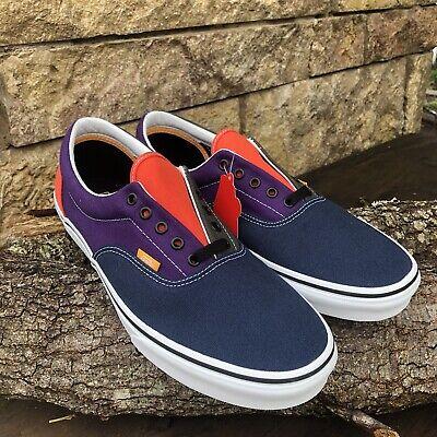 "New! Vans ""Era Mix and Match Blue/Green/Orange/Purple Canvas Mens Size 13"