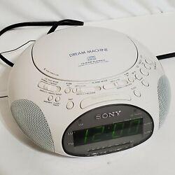 Sony Dream Machine ICF-CD831 CD Player Alarm Clock AM/FM Radio White