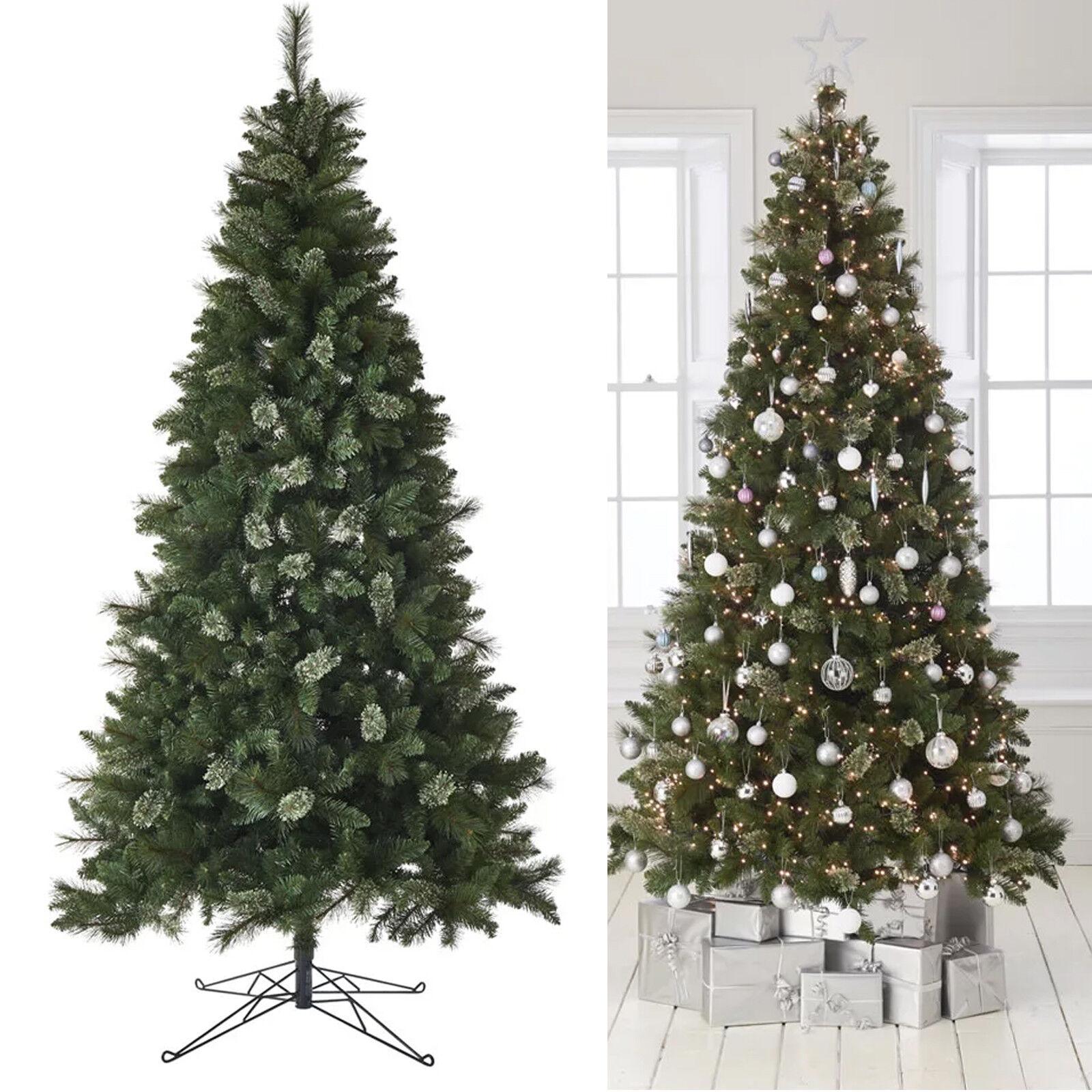 8ft Waverley Christmas Tree Snow Cones Realistic Xmas Trees ...