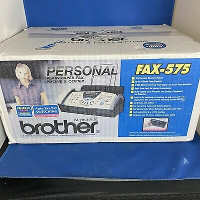 Brother Fax 575 Plain Paper Fax Machine Phone Copier Brand New Sealed Box