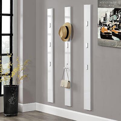 [En.casa] Armario 170cm Blanco Gancho Plegable para Ropa Perchero Panel de Pared