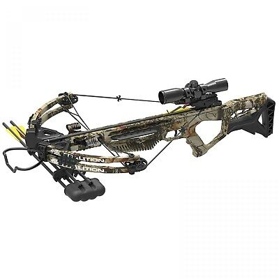 New PSE Coalition Camo Crossbow 380FPS with 3 extra lighted bolts