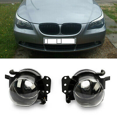 Pair Front Fog Lights Lamps Housing Clear For BMW E60 E61 E63 E90 X3 325i 525i