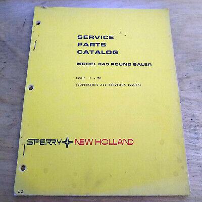 New Holland 845 Round Baler Parts Manual Catalog Nh
