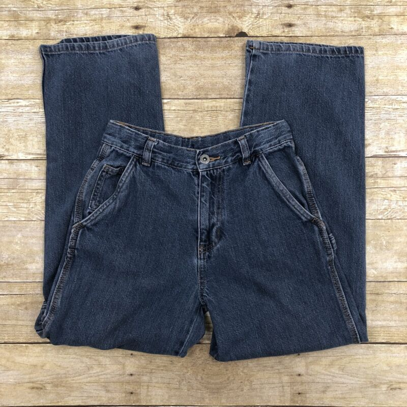 Faded Glory Boys Size 12 Carpenter Loose Fit Adjustable Waist Jeans