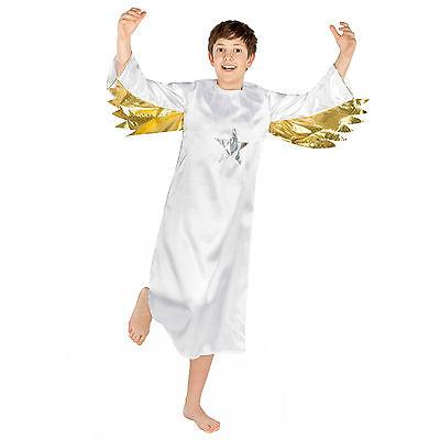 Kinder Kleid Für Jungen (Engel Kostüm für Kinder Jungen Engelskostüm Weihnachten Kleid Mädchen Christkind)