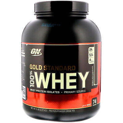 Optimum Nutrition  Gold Standard  100  Whey  Double Rich Chocolate  5 lbs  2 - 5 Lb Rich Chocolate