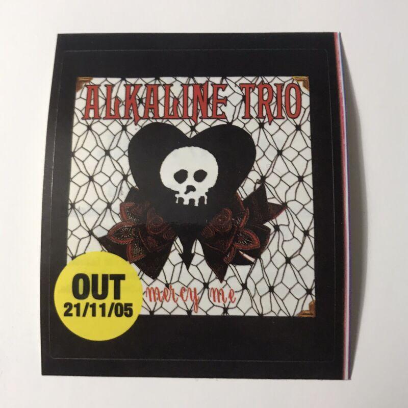 Alkaline Trio Mercy Me Promotional Single Sticker Car Decal Crimson Vintage 2005