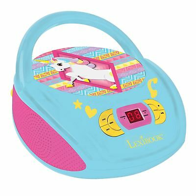LEXIBOOK UNICORN PORTABLE RADIO CD PLAYER CHILDRENS