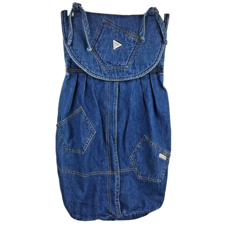 Baby Guess at Home diaper stacker jeans denim  storage holder bag nursery