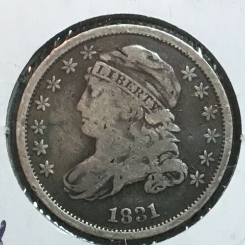 1831  Fine  Capped Bust Dime  Nice Coin