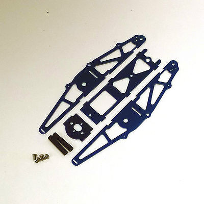 XTREME RACING BLUE G-10 1/24 MICO SLOT CAR DRAG CHASSIS XTR20041 INLINE BRACKET for sale  Fort Lawn