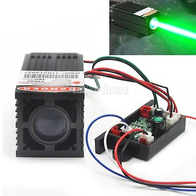 Fat Beam Dot 532nm 100mw Green 12v Laser Diode Module W Driver Fan Stage Light