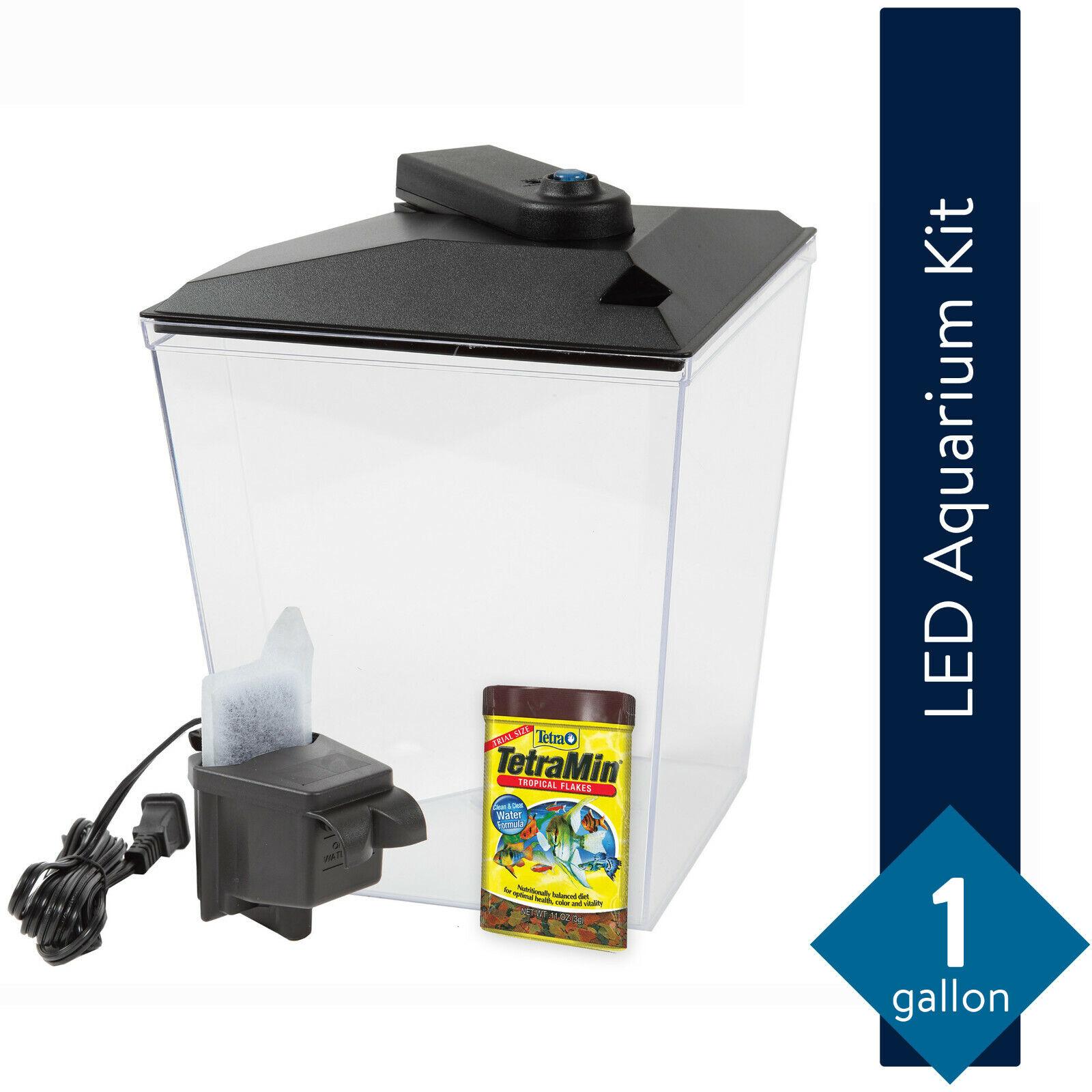 Aqua Culture One Gallon Aquarium Starter Kit with LED