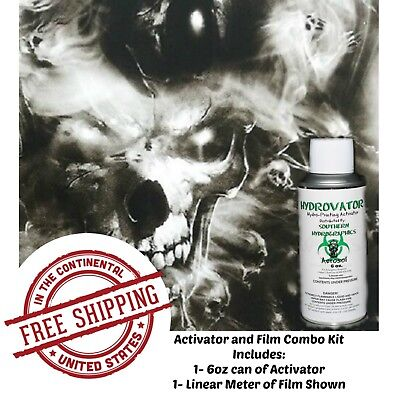 Hydrographic Film Water Transfer Hydro Dip 6oz. Activator Lost Souls Hydro Kit