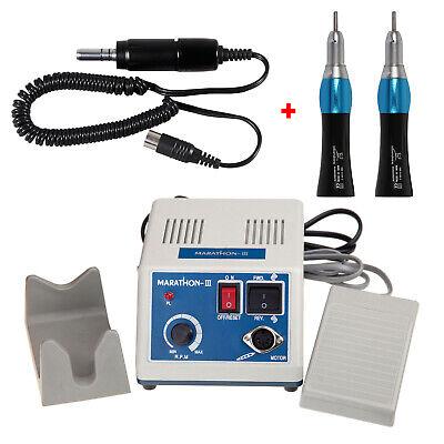Dental Marathon Micro Motor eléctrico Motor + 2 Straight nose cone es