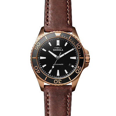 Shinola The Bronze Monster Automatic 43mm Limited Gift Set Prohibition Rumrunner