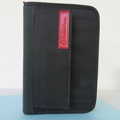 Euc Compact 1.0- Rings Black Nylon Franklin Covey Sport Planner Binder Zip