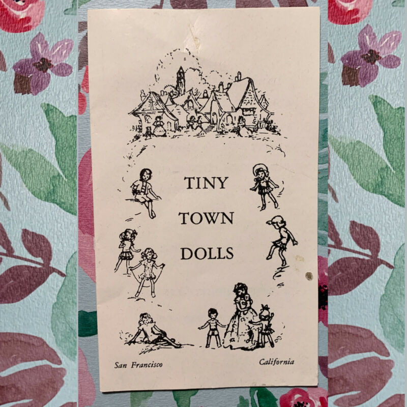 Very nice research - Tiny Town Dolls brochure, San Francisco, California