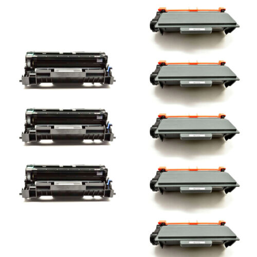 5x Tn750 Toner+3x Dr720 Drum For Brother Dcp-8150dn Dcp-8...