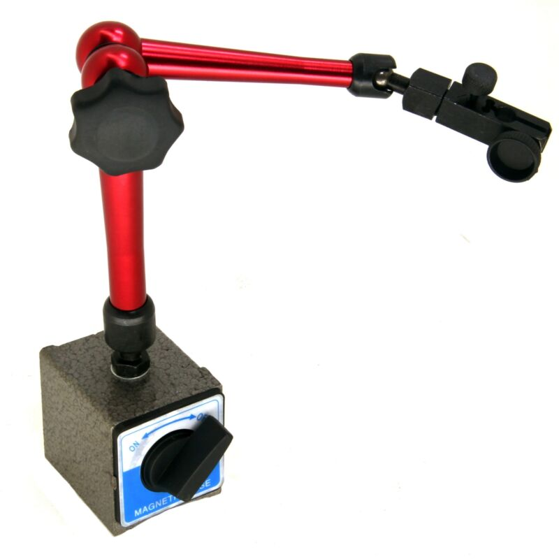 """HFS(R) Large Magnetic Base Holder With 3/8"""" Clamping Hole"""