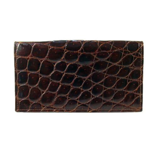 TEX TAN Vintage Genuine Domestic Alligator Billfold Wallet - Made in USA