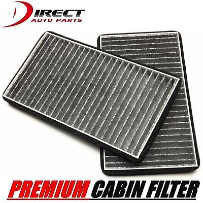 CARBONIZED CABIN AIR FILTER 2PC SET FOR CHEVROLET SILVERADO 1500 2500 1999-2002