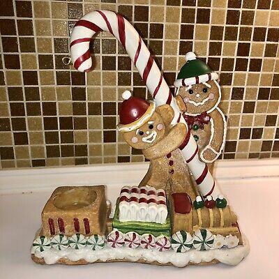 Retired 2007 Yankee Candle Gingerbread Man Train Tea Light & Wax Tart Warmer