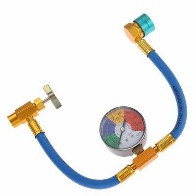 1 Set R1234yf Self-Sealing Refrigerant Charging Hose Kit with Gauge For Car