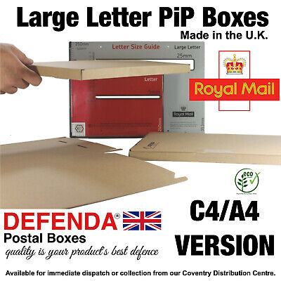 400 STRONG Cardboard A4 C4 LARGE LETTER POSTAL BOXES PiP POSTING Mailing Postage